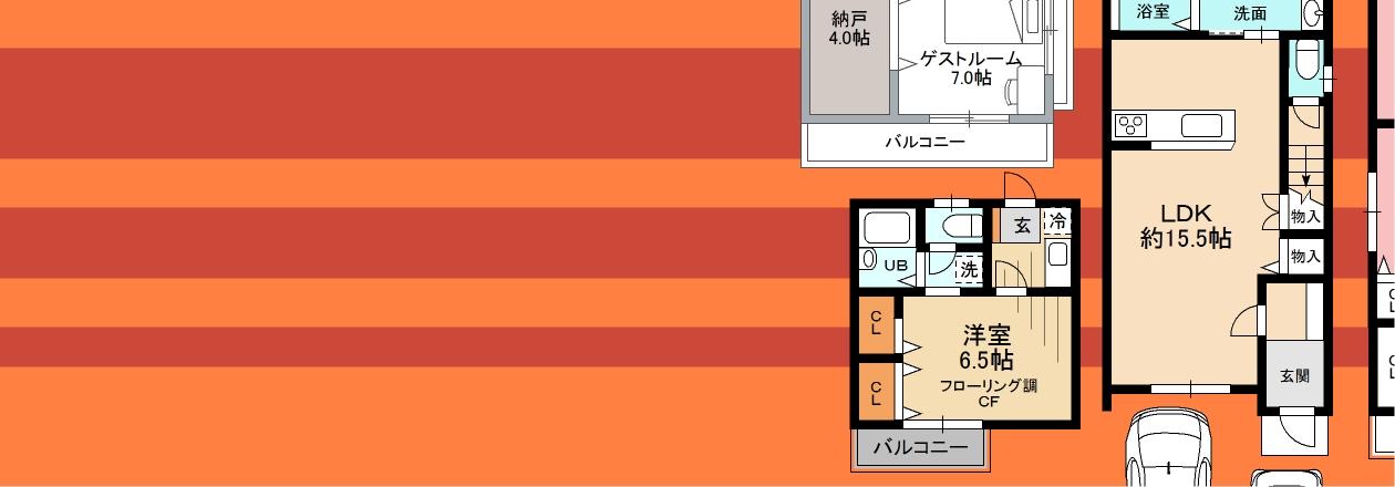 一般住宅の間取り図もわかりやすく綺麗に仕上ります。